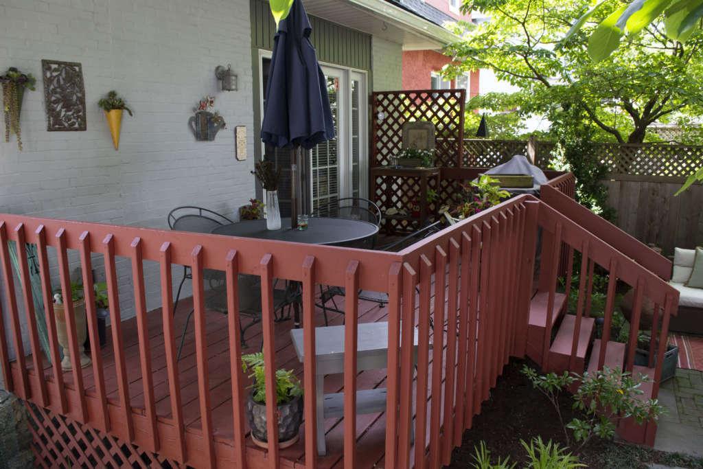 Deck with Ferns + Coleus