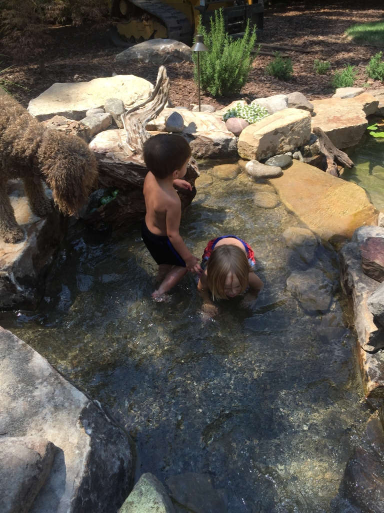 Outdoor Room Pond Fun