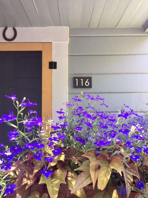Porch Window Box and Address Numbers