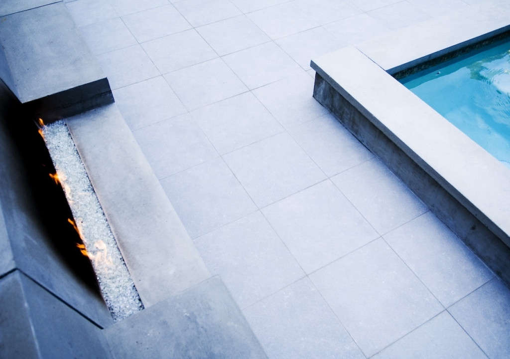 Spa Seating Is Designed to Face the Fire Pit