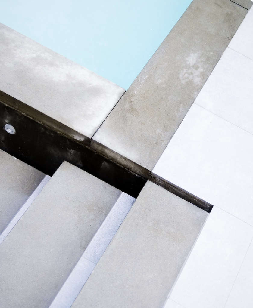 Cast-in-Place Concrete, Pre-Cast Pavers, and Porcelain Tile Come Together