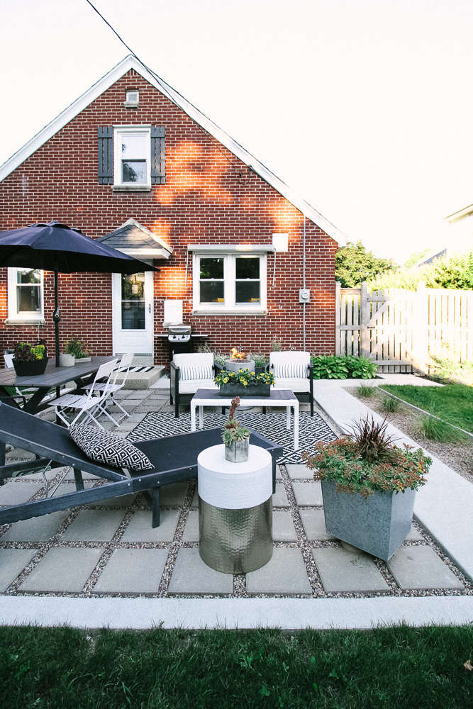 A Modern Patio Finds A Home At A Midwest Cape