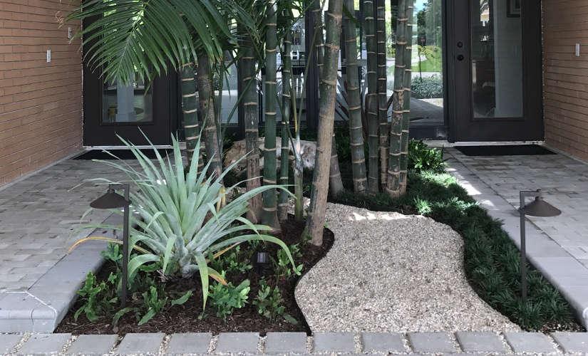 covered entry garden