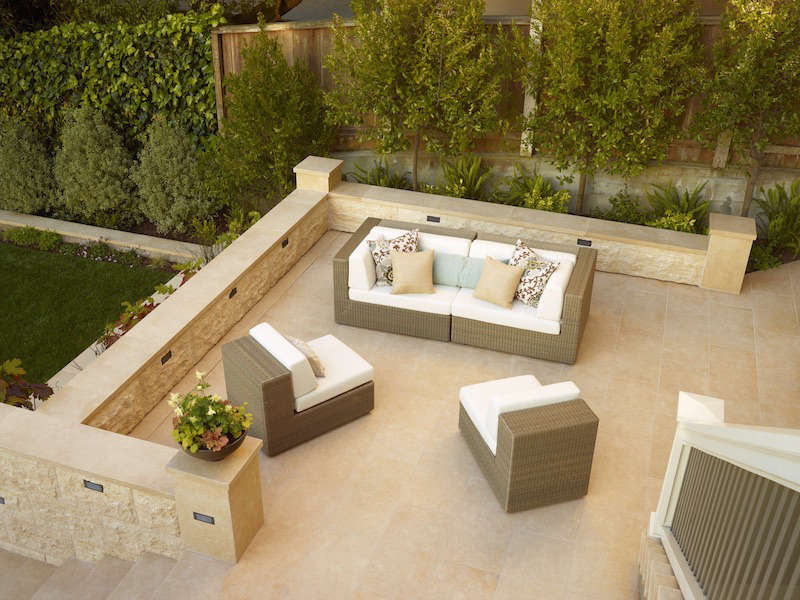 A smooth outdoor living area