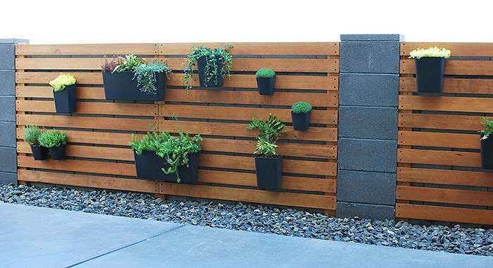After - DIY Modern Plant Wall