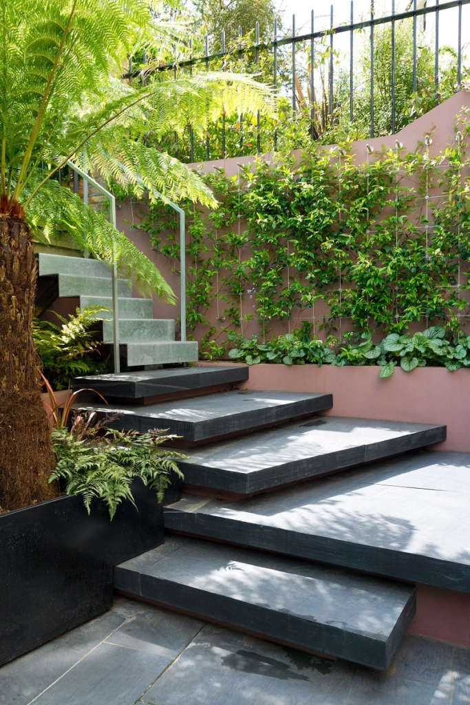 The staircase to the communal garden