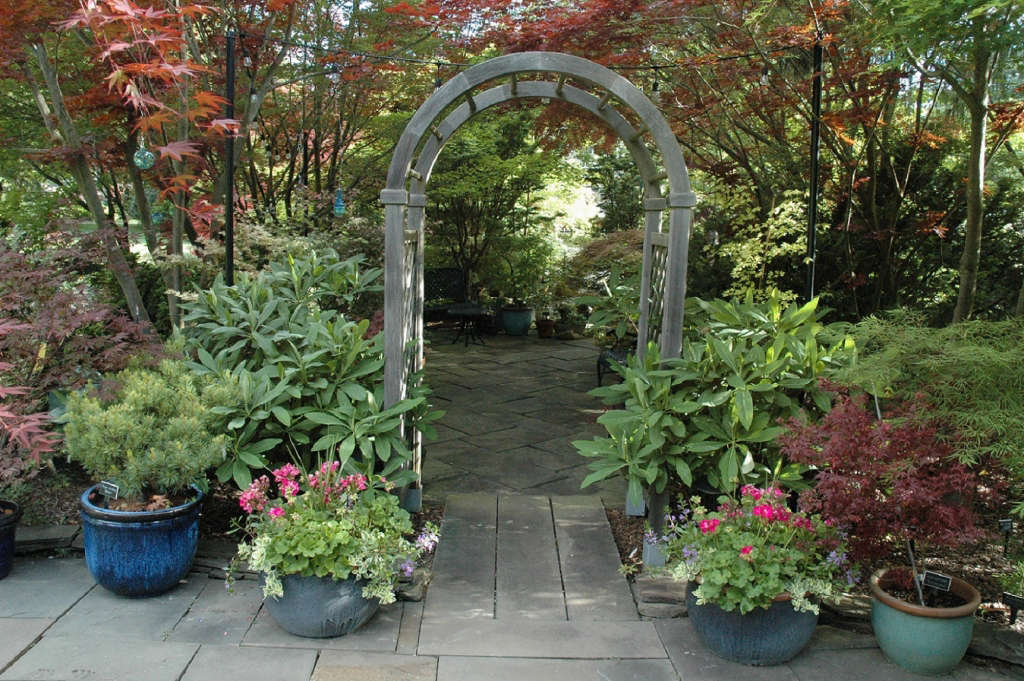 Entrance to the shade patio