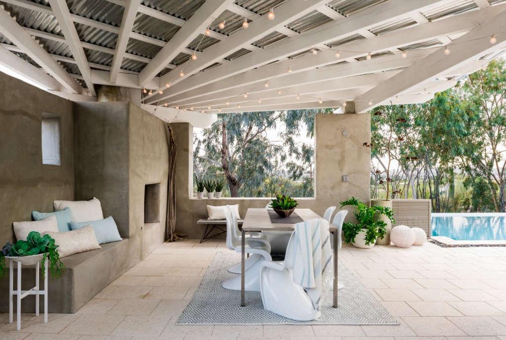 Shaded veranda