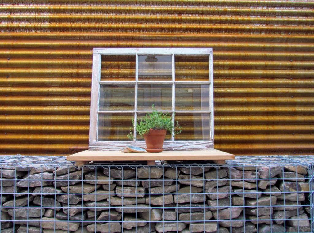 Hurricane Hugo window frame
