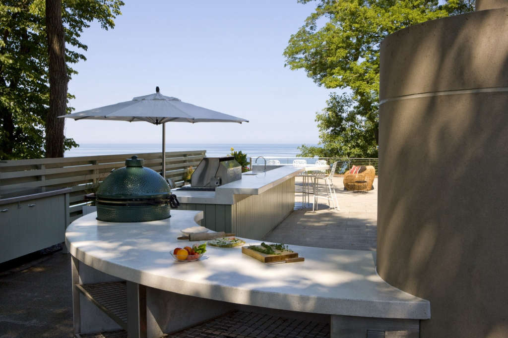 View from Kitchen looking at Lake Michigan