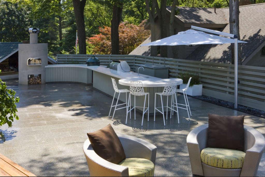 Outdoor Kitchen + Patio