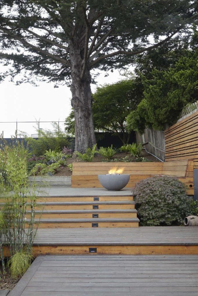 Deck with heritage Monterey cypress