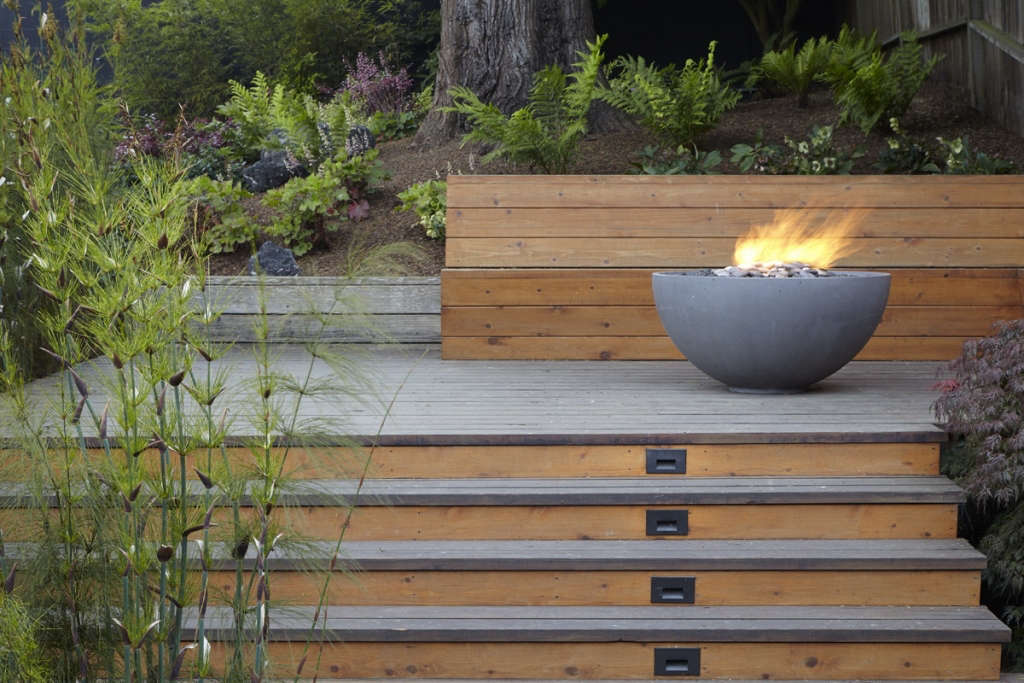Deck and fire pit