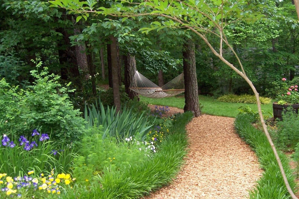 Path Behind Sun Room in May